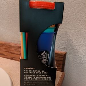 Pack of Starbucks Color changing cups